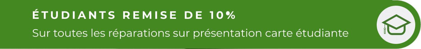 Étudiants remise de 10%